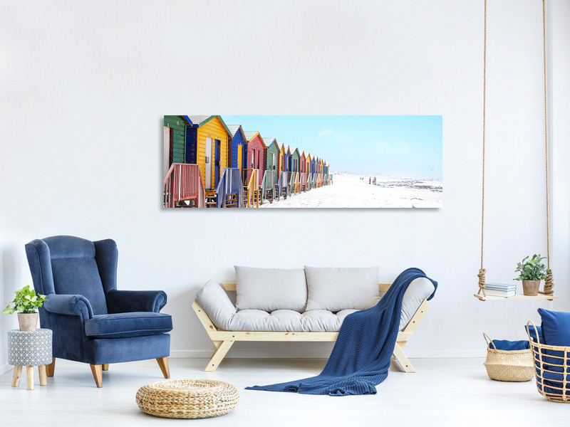 Panoramic Canvas Print Colorful beach houses