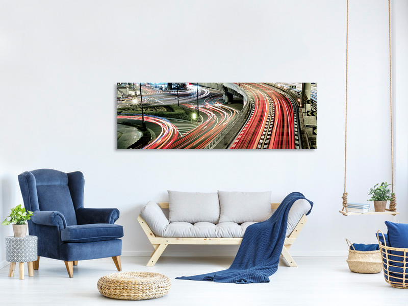 Panoramic Canvas Print Chaotic Traffic