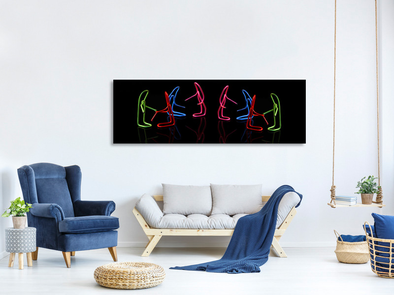 Panoramic Canvas Print Lets Dance