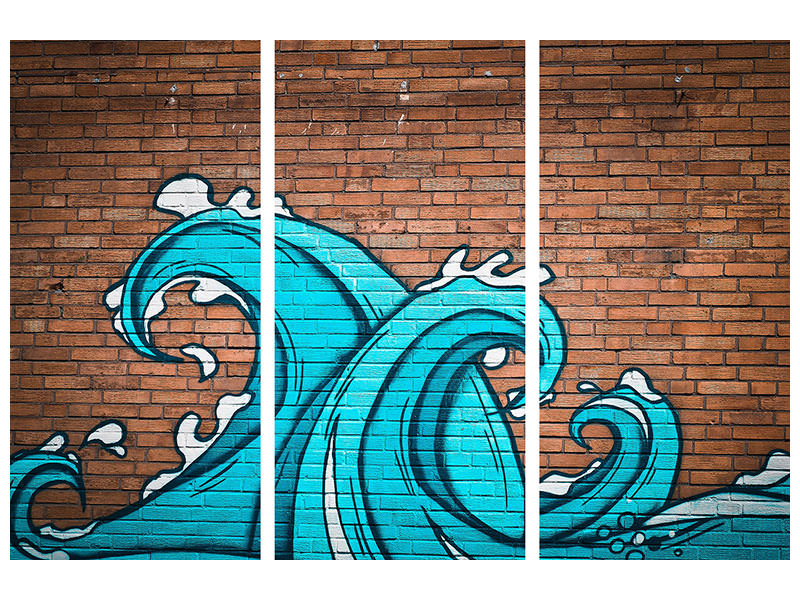 3 Piece Canvas Print 2 waves on the facade