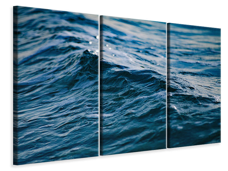 3 Piece Canvas Print The sea XL