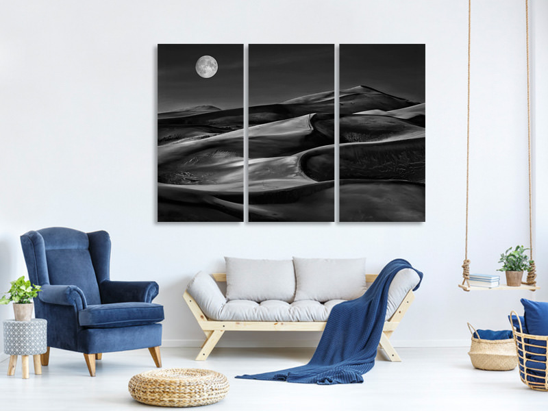 3 Piece Canvas Print The Night Walked Down The Sky