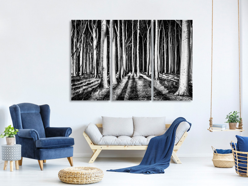 3 Piece Canvas Print Ghost Forest