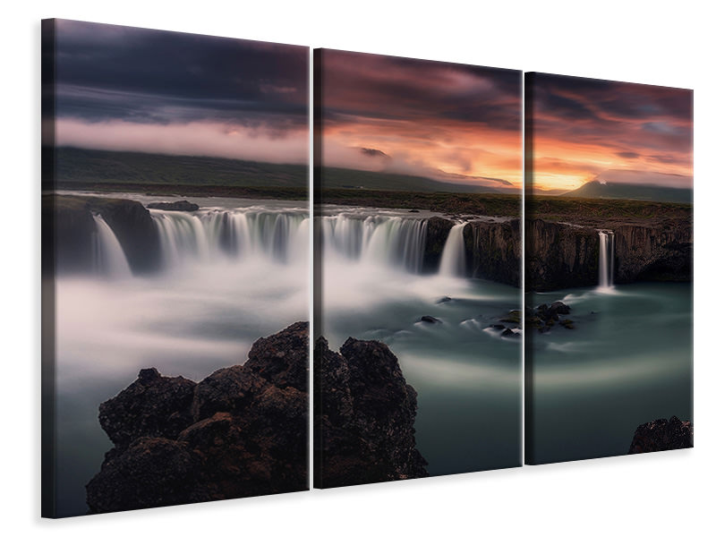 3 Piece Canvas Print Fire And Water II