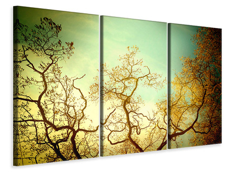 3 Piece Canvas Print Autumn Trees