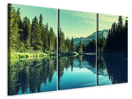 3 Piece Canvas Print The Music Of Silence In The Mountains