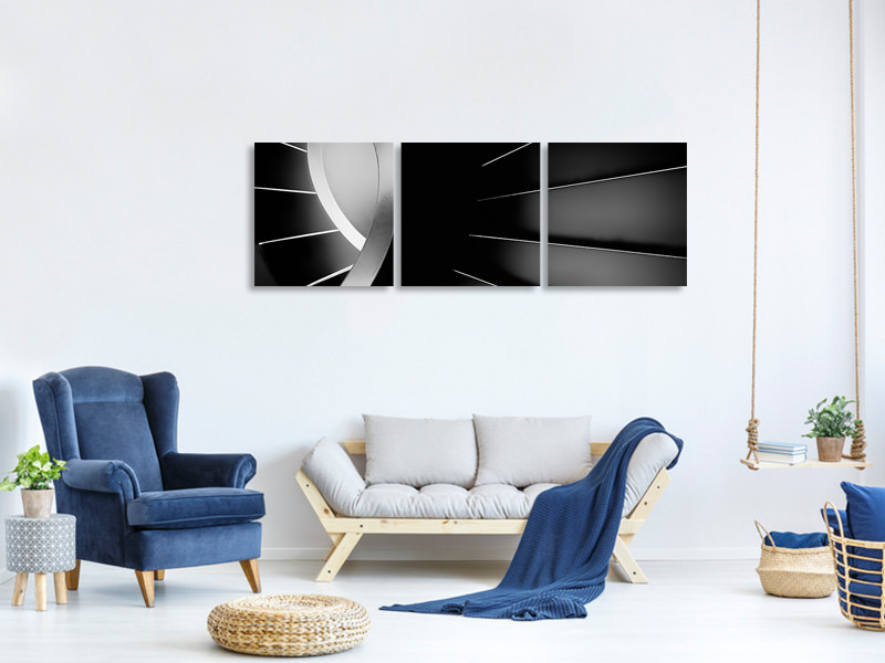 Panoramic 3 Piece Canvas Print The Long Dark