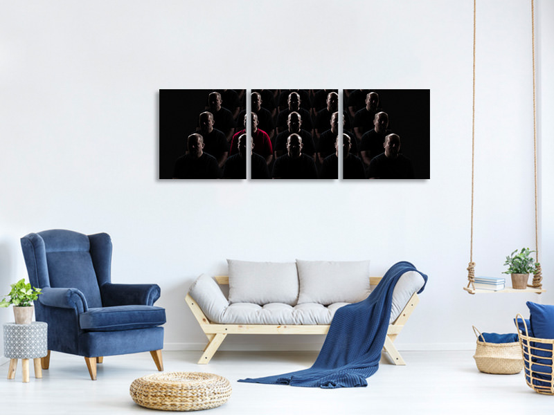 Panoramic 3 Piece Canvas Print The Individual