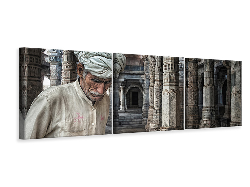 Panoramic 3 Piece Canvas Print A Place For Meditation