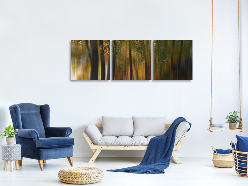 Panoramic 3 Piece Canvas Print Fall Impression 1