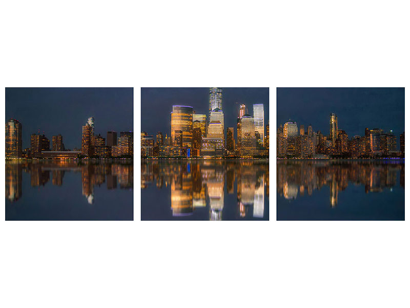 Panoramic 3 Piece Canvas Print Untitled 12