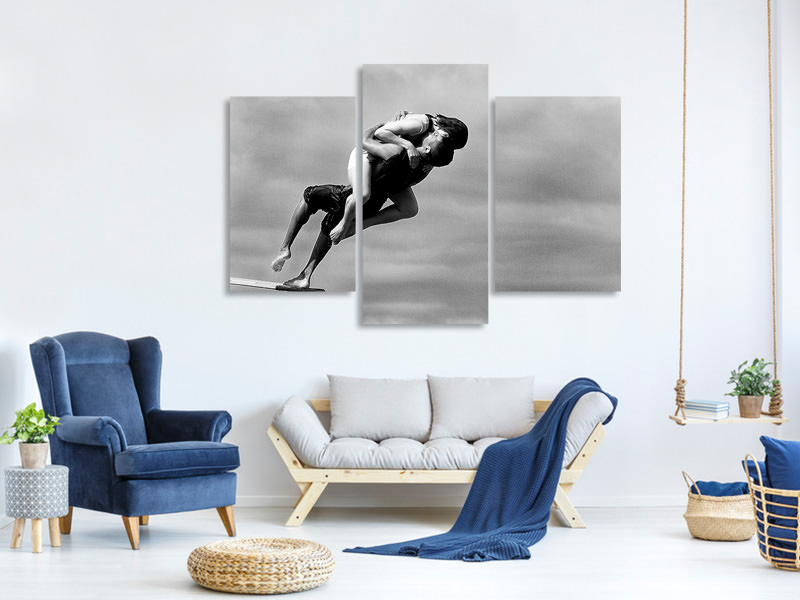 Modern 3 Piece Canvas Print The Point Of No Return
