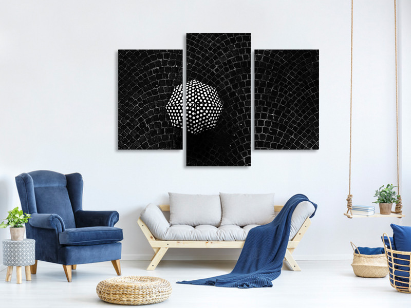 Modern 3 Piece Canvas Print Pois