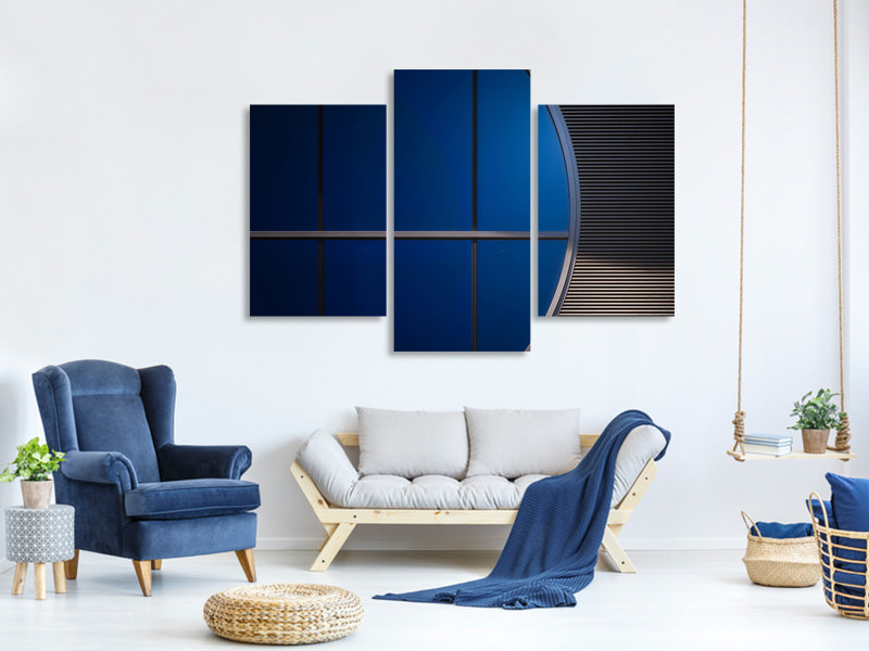 Stampa su tela 3 pezzi moderno Window In Blue