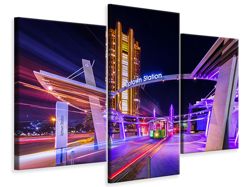 Modern 3 Piece Canvas Print Uptown Dallas