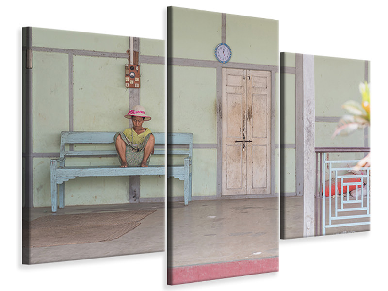 Modern 3 Piece Canvas Print Burma
