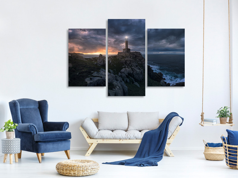 Modern 3 Piece Canvas Print The Light At The End Of The World