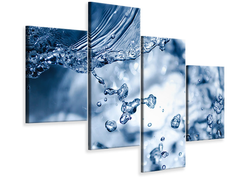 Modern 4 Piece Canvas Print Moving water