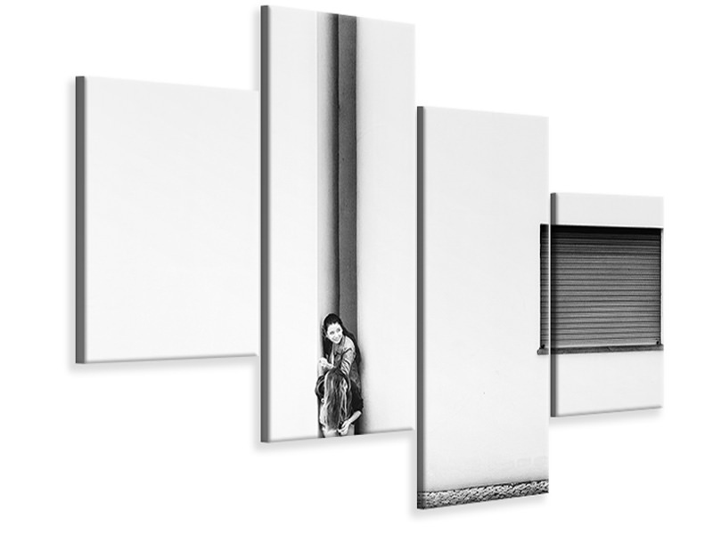 Modern 4 Piece Canvas Print No Secret Hideout