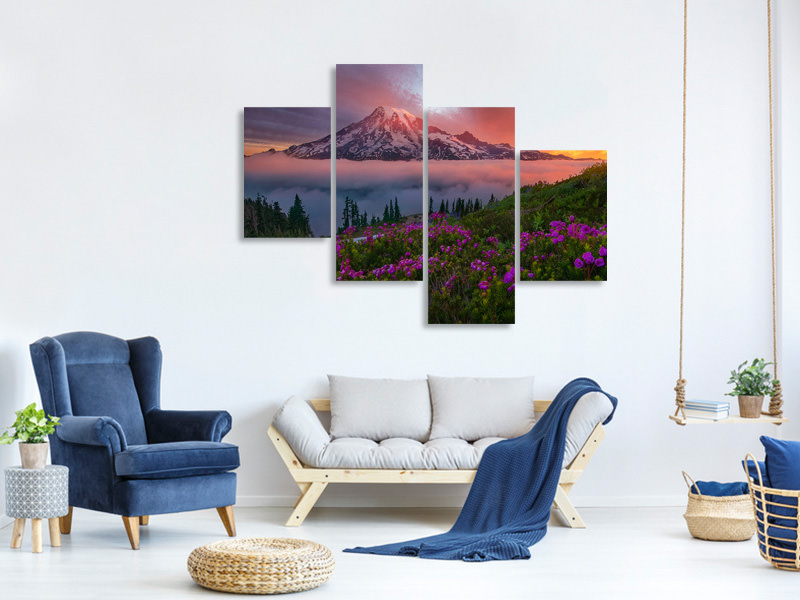 Modern 4 Piece Canvas Print A Moment In Time