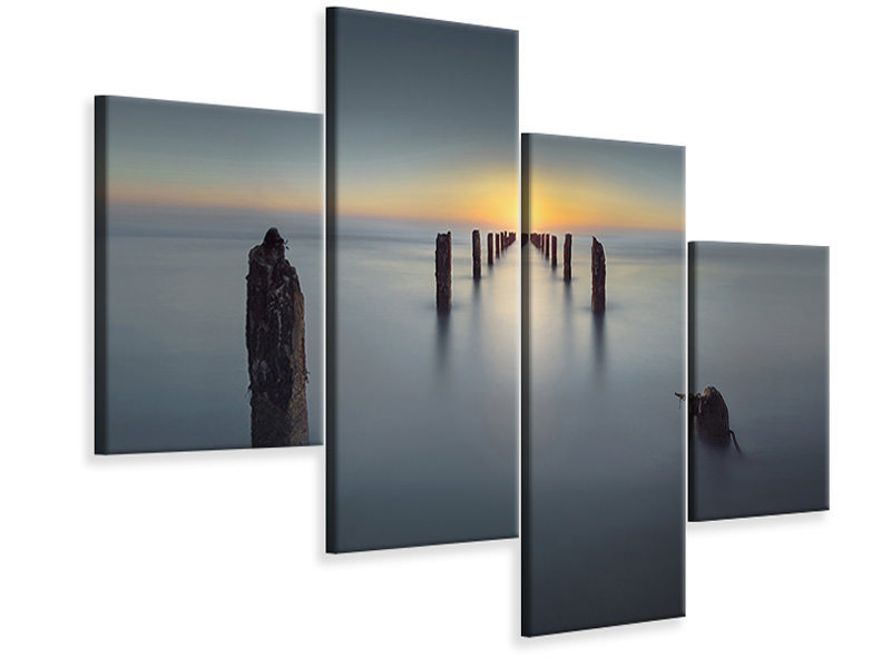 Modern 4 Piece Canvas Print Last Light II