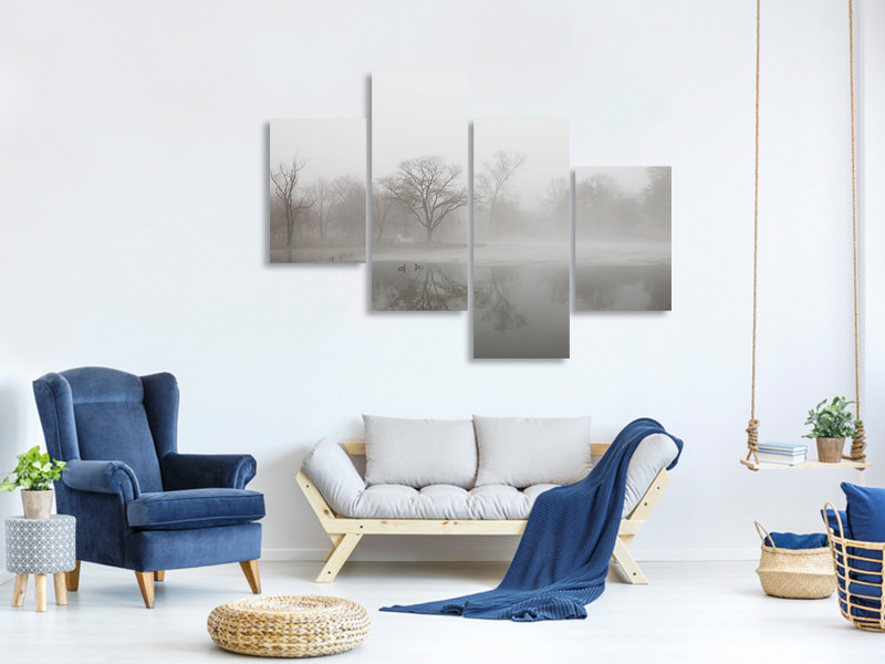 Modern 4 Piece Canvas Print Untitled 13