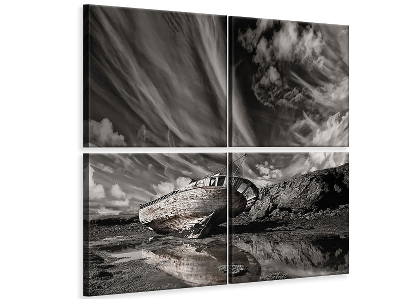 4 Piece Canvas Print Final Place II