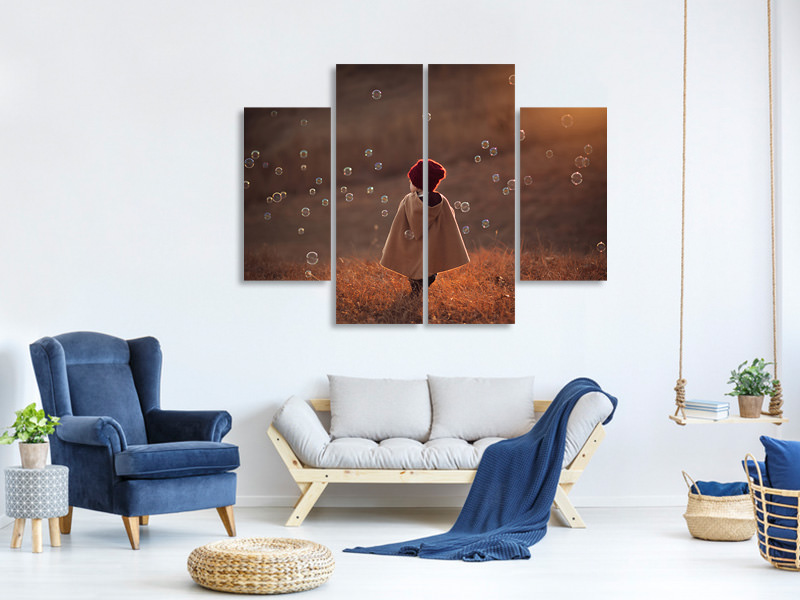 4 Piece Canvas Print Symphony