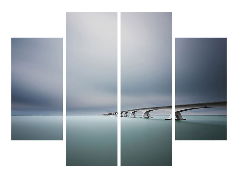 Tableau sur Toile en 4 parties The Infinite Bridge