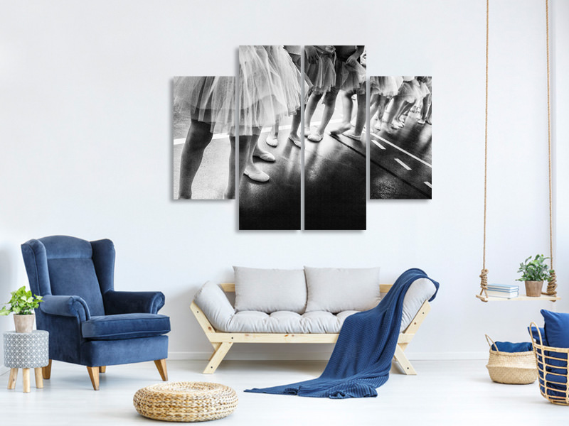 4 Piece Canvas Print Ballerina