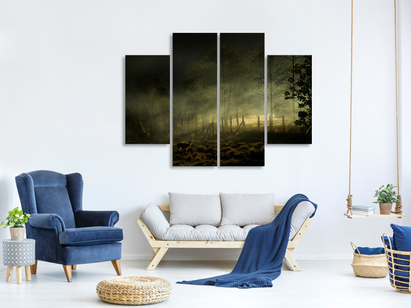 4 Piece Canvas Print Misty Morning II