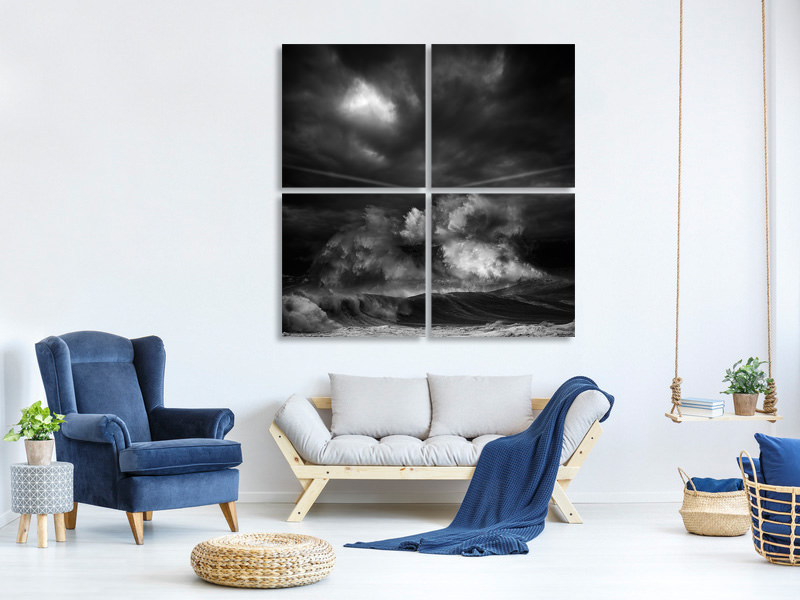 4 Piece Canvas Print Muro Time