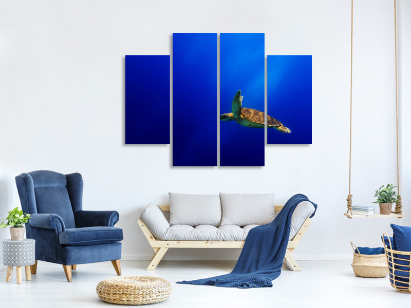 4 Piece Canvas Print Flying