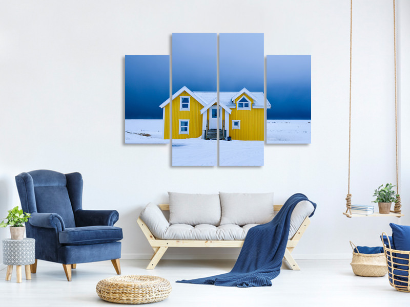 Tableau sur Toile en 4 parties The Yellow House