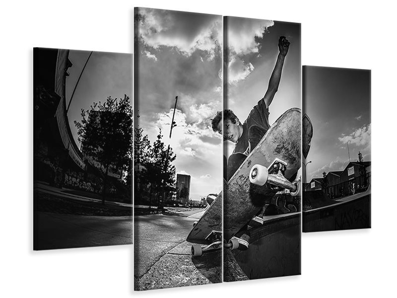 4 Piece Canvas Print Ellis Ekkart Five-O