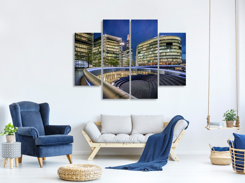 4 Piece Canvas Print Architectural Beauty Revealed