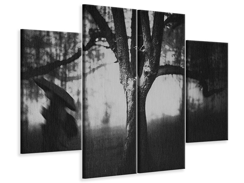 4 Piece Canvas Print Tree