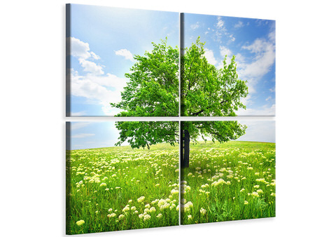 4 Piece Canvas Print The Tree