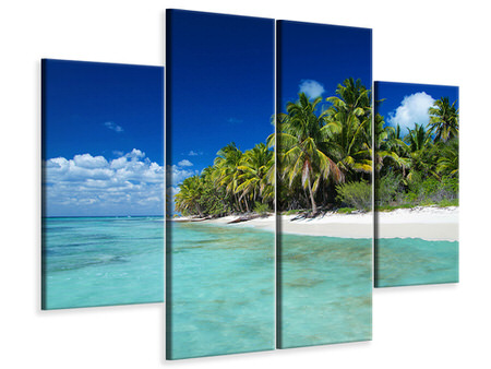 4 Piece Canvas Print The Dream Island