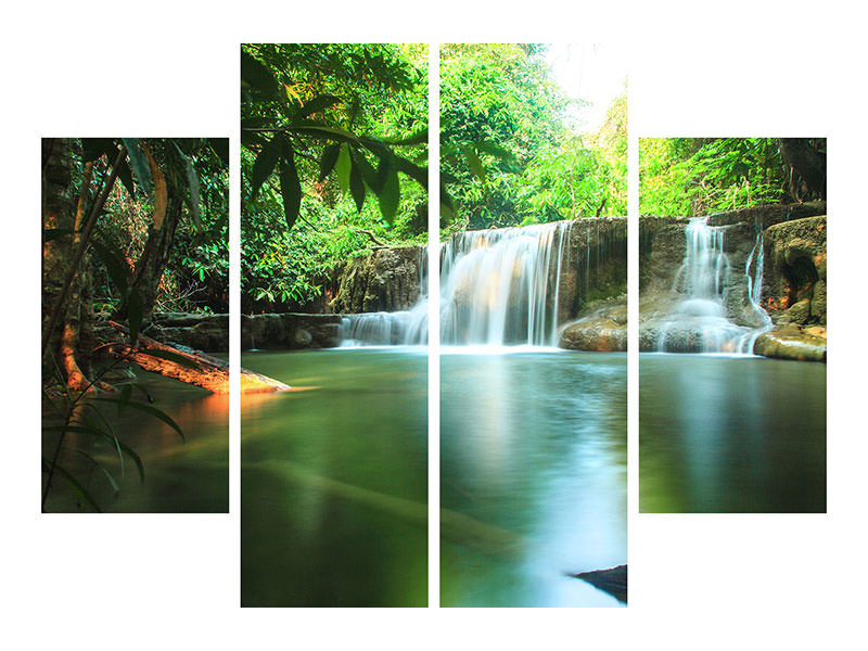 4 Piece Canvas Print Element Water