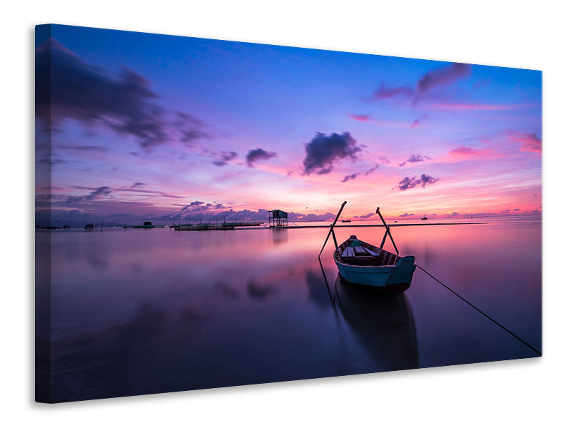 Canvas print Impressive sunset at the sea