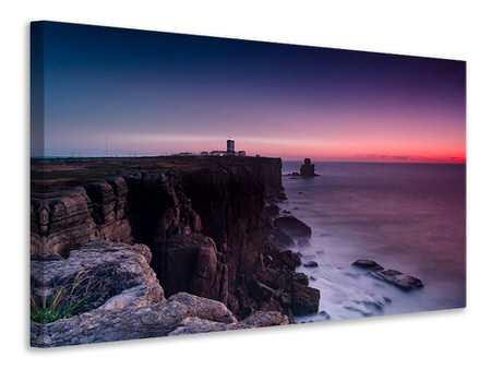 Canvas print The lighthouse at dusk