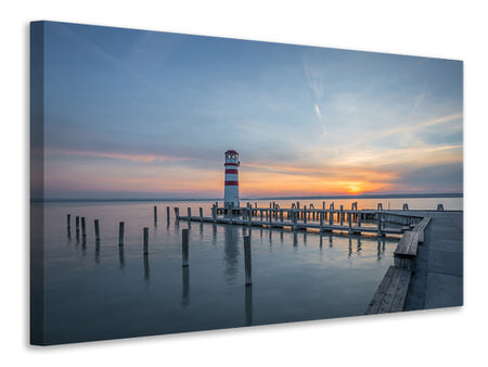 Canvas print Lighthouse in the sunset