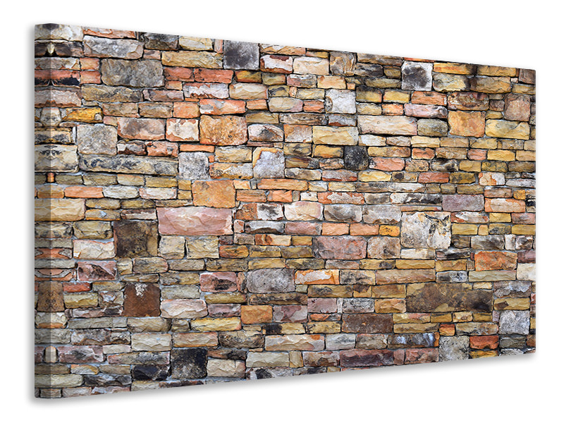 Canvas print Old stone wall