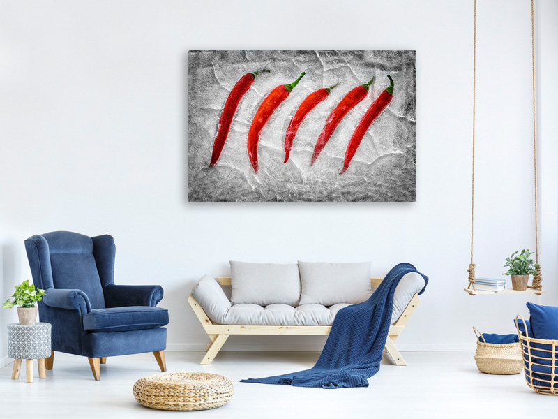 Canvas print Frozen Fire