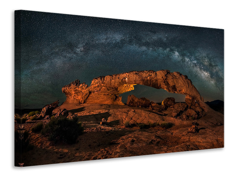 Canvas print Milky Way Over The Sunset Arch