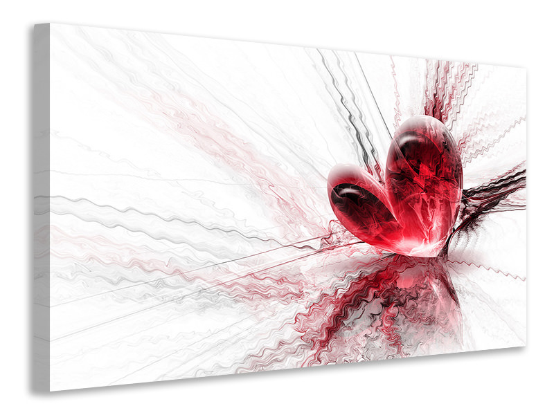 Canvas print Heart Reflection