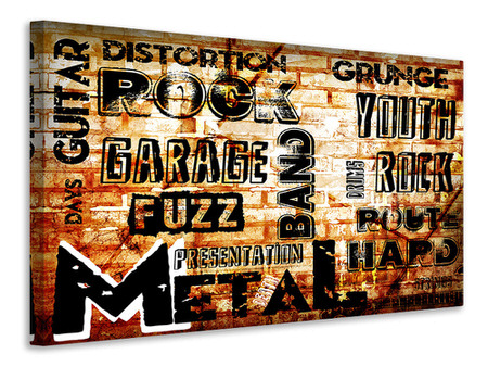Canvas print Rock In Grunge Style