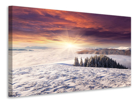 Canvas print Sunrise Winter Landscape