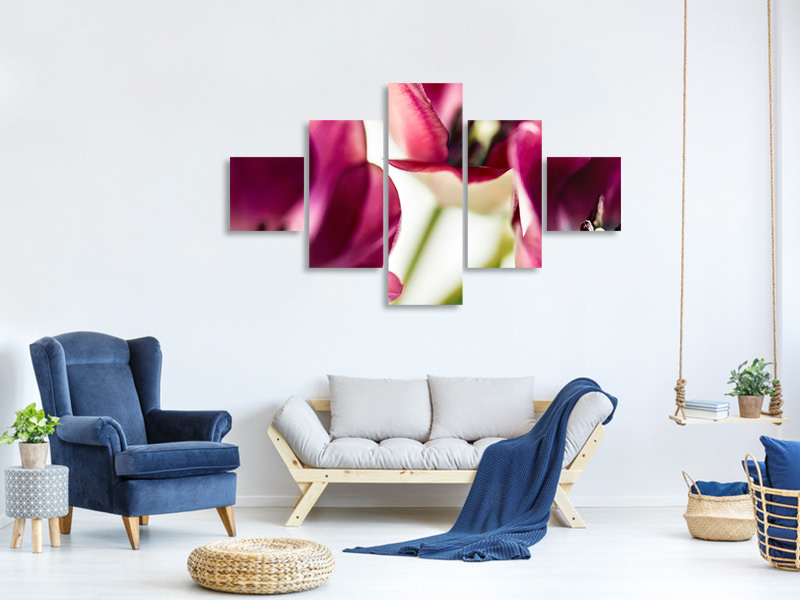 5 Piece Canvas Print Tulip IV